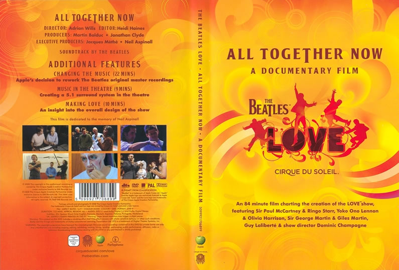 "The Beatles Polska: ""All Together Now"" dokument o pracy nad spektaklem ""Love"" ukazał się na DVD"