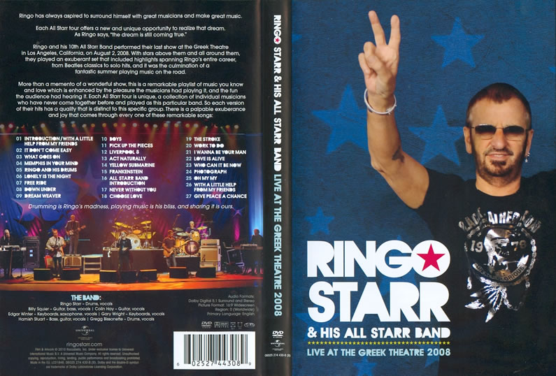 ringo starr his all starr band live at the greek theatre dvd. Black Bedroom Furniture Sets. Home Design Ideas